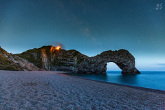 Durdle Door (Max Thompson Photography) Tags: nature wild landscape fire dorset durdle door south west england uk burning wildfire damage night sky astro photography stars