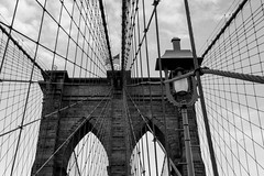 2016.05.23 A Quiet Walk Over the Brooklyn Bridge, NY (Katie Wilson Photography Adventures) Tags: walk over brooklyn bridge bk nyc ny new york historical landmark bound bikes locks sunset bride groom street photography random couples wedding love cars black white katie wilson photo adventures seeing through friends eyes experience bridges first time suspension history the city doing tourist thing backyard lovers moments streets urban fountains signs traffic rush hour whirling high sky romantic