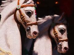 carousel horses (DorisPac) Tags: horses carousel merrygoround digitalart topazimpression