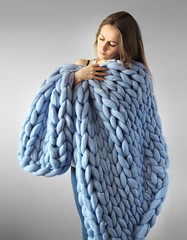 Heavy knitted woolblanket (Mytwist) Tags: giant boredpanda super chunky wool knitwear blankets fashion fetish sweatergirl irish aranstyle style sweaters jumper pullover