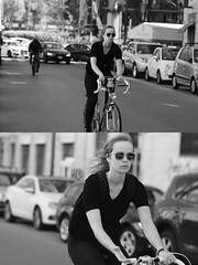 [La Mia Citt][Pedala] (Urca) Tags: milano italia 2016 bicicletta pedalare cicllista ritrattostradale portrait dittico nikondigitale mir bike bicycle biancoenero blackandwhite bn bw 881115