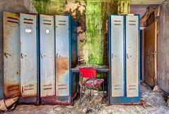 former locker (Planitzer Pictures) Tags: stuhl spint locker ehemalige alt verlassen abandoned bro forgotten vergessen lostplace exploring urban urbex decay verfall hdr exploration canon