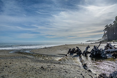 Bright Light (- Jan van Dijk) Tags: newzealand tannin flow sea pebbles tasmansea wolken sky clouds brightlight bright