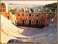 1608233_OLPD_Atenas, Odeon de Herodes Atico (S II) 1 (jesssilgado) Tags: cities city ciudad grecia paisaje paisajes pueblo villages village landscape acropolis atenas