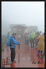 Ready for Fuji San (Rob McC) Tags: fog climbers japan mtfuji walkers mist gloomy waterproof