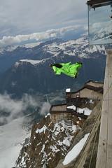 Is It a Bird? (jobbys.m) Tags: chamonix birdsuit wingsuit skydiving aiguilledumidi alps