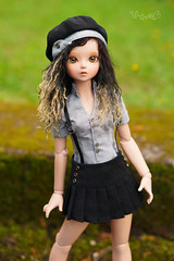 Black hair, blonde tips (Untuvikko) Tags: bluefairy baked marine scout may jolne bjd doll msd tinyfairy