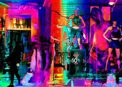 Fifty Percent Off (brillianthues) Tags: mannequins shop colorful collage photography photmanuplation photoshop window