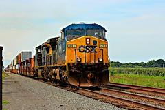 CSXT 341 eastbound track 2 (cheliman) Tags: csxt locomotive ac44cw ge train pa nwpa