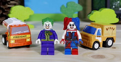 The Joker and Harley in the City (Busted.Knuckles) Tags: home toys lego minifigures joker harleyquinn pentaxk3 camerautility5