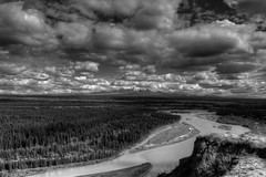 Copper River near Glennalen (tpeters2600) Tags: alaska landscape scenery river copperriver canon eos7d tamronaf18270mmf3563diiivcldasphericalif hdr photomatix bw blackandwhite monochrome