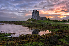 Dunguaire Castle - Kinvara - Galway Bay (Gareth Wray - 9 Million Views - Thank You) Tags: sea ocean coast strand seascape landscape scape county ireland irish award nature horizon tourist site pool scenic calm summer visit nikon d810 gareth wray photography strabane hdr hdfox hd fox red sky nikkor 1424mm sunset sun rise set colourful island photographer docks kinvarra kinvara galway dunguaire castle wild atlantic way dungory boat ship reflection bay day cloudy vacation holiday europe