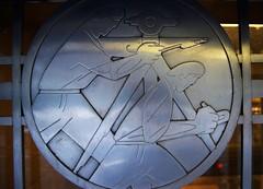 men at work 14 (f o t o o r a n g e) Tags: 1937 torontostockexchangebuilding charlesfrasercomfort19001994 artist stainlesssteel medallion baystreet toronto