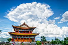 Heavy chinese weather (Rutger Smulders Photography) Tags: china weather cumulonimbus culture temple colors huge