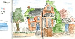 Lockkeepers House (David Masters) Tags: urbansketching sketch urban pen ink watercolour drawing 2016 manchester usk city symposium england uk