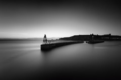 Whitby Harbour in black and white (aveyardphotography) Tags: coast coastline seascape whitby harbour lighthouse abbey long exposure calm sunrise early morning black white mono monochrome andy aveyard photography