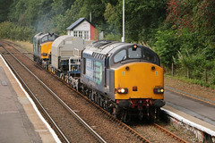 DRS 37607 & 37218 at Dunkeld and Birnam (Tug60044) Tags: drs class 37 37218 37607 6s99 carlisle georgemas jn junction dunkeld birnam perth perthshire forteviot hml highland main line rail network direct services scotland flask