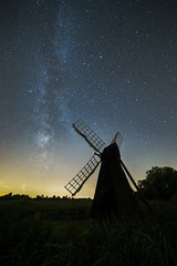Wicken Fen (Daniel Borg) Tags: 14mm 6d amazing astrology astronomy astrophotography backlit blue camera canon canon6d clearsky colours danielborg fullframe galaxy glow green lightpollution milkyway other peaceful sagittarius samyang14mm scorpius sky star stars tranquil uwa ultrawideangle wideangle windmill yellow