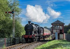 Pick up the Batten (4486Merlin) Tags: 30541 england europe exsr heritagerailways midlands nenevalleyrailway railways srqclass signals steam transport unitedkingdom ortonmere cambridgeshire gbr y nvrsouthernsteamgala