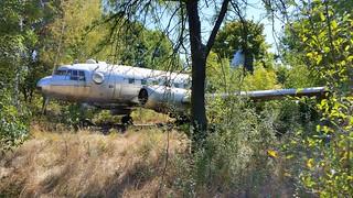 Ilyushin Il.14G Bulgarian Air Force serial 95 dumped at abandoned Bulgarian Air Force base Kumaritsa, Bulgaria