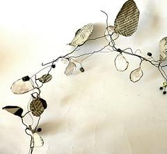 work in progress (Ines Seidel) Tags: wreath circle wire paper workinprogress detail draht kranz kreis papier