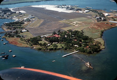 Ford Island, Pearl Harbor, Honolulu, Hawaii  1950s (ElectroSpark) Tags: vintage photos slides hawaii military aircraftcarrier wwii koreanwar tiki hula girls