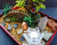 006/365: Meditation Garden Tray Oil Painting 2013-01-06 (George (Patti) Larcher (333K Views - Thank you!)) Tags: feast for all with shot you or year captured el best your leap mundo por house dabba  photos day art pictures best a flickr shot 2013 give colors colors a photography images eyes catchy photos group project today beauty 365 want 365 less experience pic perfect doo click distinguished 2013 everyone 365around click 3662012 yabba montera