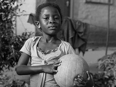 proud south african volleyball-player // mamelodi, lusaka - south africa (pamela ross) Tags: street portrait blackandwhite bw pen ball southafrica hand streetphotography olympus mam pretoria mamelodi streettogs pamelaross epl5