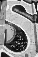 What was obscured (QsySue) Tags: railroad digital train lumix graffiti tag traintracks panasonic traincar pointandshoot digitalcamera orangecounty railroadtracks railroadcar moniker colossusofroads digitalpointandshoot inexplicableblues whatwasobscured panasoniclumixdmczs8