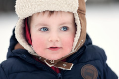 Bring on the Snow (ksten) Tags: family winter snow playing jack fun us clothes layers sledging canonef135mmf2lusm