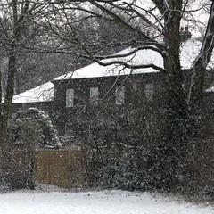 Keep the coal fire burning. (Ali's view) Tags: winter snow snowflakes snowfall cramlington