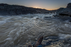 perspective and proximity (dK.i photography) Tags: sunrise river virginia boots greatfalls perspective rapids potomacriver myboots foolish adventurous restrictedarea wetrocks rockhopping closetotheedge canon5dmkii singhrayrgnd ef1740f40lusm