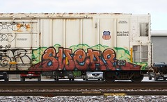 Swear (quiet-silence) Tags: railroad art train graffiti ant railcar unionpacific graff freight swear reefer armn fr8 gtl allnation