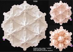1153x3 (LydiaDiard paperfolledingue) Tags: art geometric paper 3d origami hexagon papier tessellation tesselation paperfolding volume volum tant lydiard géométrique pliage hexagone paperfold pliagedepapier lydiadiard paperfolledingue