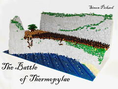 Battle of Thermopylae (brick.spartan) Tags: ocean sea cliff beach army greek persian war lego battle 300 moc spartans brickish thermopylae
