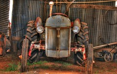 Antique Ford Tractor (Treesha Duncan) Tags: old tractor color ford barn photography antique hdr relic sonya550