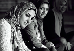 Egyptian girls (hadeel badwi) Tags: bw girl photography egypt بدوي أبيض 2013 وأسود هديل hadeelbadwi
