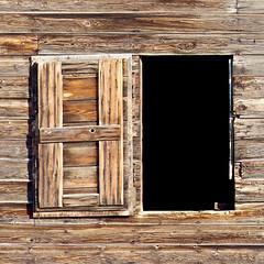 Abandoned (annkelliott) Tags: wood old winter canada texture abandoned window barn rural countryside wooden open grain explore alberta squarecrop interestingness225 seofcalgary blackiearea explore2013february08