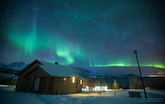 Aurora Borealis over Lyngen, Norway [Explored!] (Tor Even Mathisen) Tags: night matt norge cabin northernlights auroraborealis hytte nordlys lyngen