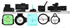 EbonyCore Optics Pack 1 (M0KII) Tags: 1 gun parts pack pimp ec optic pmg ebonycore m0kii