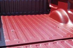 maroon bed liner