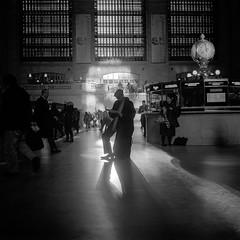 Grand Central 1/3 (Barry Yanowitz) Tags: nyc newyorkcity blackandwhite bw ny newyork 6x6 film mediumformat blackwhite kodak manhattan trix 120film d76 midtown scanned grandcentralstation filmcamera grandcentralterminal nycity selfdeveloped kodaktrix400 rolleiflexmxevs selfdeveloping d76developer