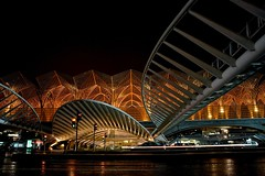 Estao do Oriente In (Paulo N. Silva) Tags: street architecture golden nightshot lisbon structures calatrava estacaooriente