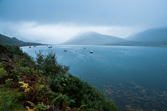 Midge Paradise (joeri-c) Tags: uk sea mountains skye wet water rain clouds landscape boats scotland highlands nikon isleofskye hills nikkor scape broadford midges lightroom elgol scottishhighlands 1685 torinn d5000 1685mm nikkor1685 nikkor1685mm nikond5000 lightroom4