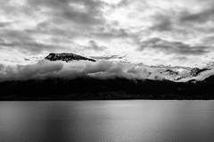 Lake View from the Balcony (Oleh Zavadsky) Tags: leica blackandwhite bw lake nature monochrome austria blackwhite sterreich natur x obersterreich wolfgangsee x2 xseries salzkammergut upperaustria  sanktwolfgang  oberosterreich  stwolfgangimsalzkammergut leicax2 leicax2gallery