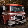 international red (IndyEnigma) Tags: old red abandoned truck cabover