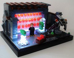 The Goblin's Lair (Julius No) Tags: green pumpkin lego spiderman norman goblin glider bombs lair osborn