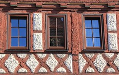 (:Linda:) Tags: window germany three town thuringia halftimbered wasungen andreaskreuz cruxdecussata standrew´scross