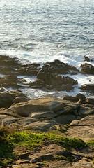En Cabo Estay (Alfredo Barros G  ) Tags: sea espaa water mar spain agua rocks galicia vigo rocas espuma piedra caboestay