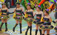 Carnaval de Oruro (jmalfarock) Tags: carnival girls woman color southamerica girl dance nikon colours fiesta bolivia colores carnaval sudamerica danzas oruro d60 tpico originario pueblooriginario religiondance